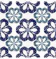 geometric flowers seamless vector image vector image