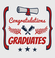 Graduate banner design congratulation card for vector image