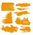 Hand-drawing orange textures vector image vector image