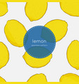hand drawn seamless bright lemon pattern in vector image vector image