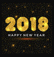 happy new year with gold glitters vector image