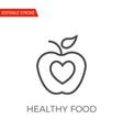 healthy food icon vector image vector image