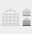 hotel mesh 2d model and triangle mosaic vector image vector image