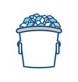 ice bucket icon vector image vector image