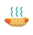 icon hotdog pixelart vector image