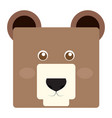 isolated bear face vector image vector image