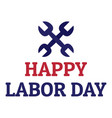 labor happy day logo icon flat style vector image