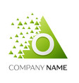 letter o logo symbol in colorful triangle vector image vector image