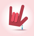 man hold love sign hand vector image