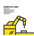 mechanical robotic arm for work vector image