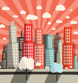 Morning - Evening Flat Design City vector image vector image