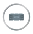 Music center icon in cartoon style isolated on vector image