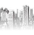 Panorama of the city cartoon vector image