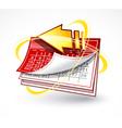 paper calendar with arrow vector image vector image
