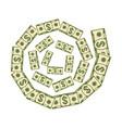 paper money vortex vector image vector image