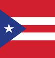 puerto rico flag vector image vector image