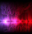 purple-red wave abstract equalizer and circuit vector image vector image