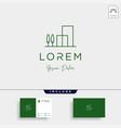 real estate simple logo design icon vector image