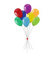 realistic festive balloons high detailed vector image