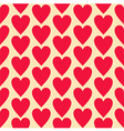 Red flat hearts seamless background pattern vector image vector image