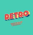 retro font 3d bold style trendy typography