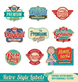 Retro label set vector | Price: 3 Credits (USD $3)