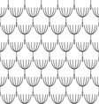 Seamless blackwhite dandelion pattern vector image vector image