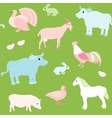 Seamless pattern with farm animals vector | Price: 1 Credit (USD $1)