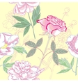 Seamless pattern with rose and peonies vector image vector image