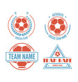 set of football or soccer club logo set vector image vector image