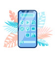 smartphone menu interface gui vector image vector image
