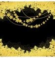 snwoflakes black background vector image vector image