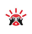 social community modern logo vector image