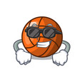 super cool volleyball character cartoon style vector image