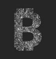 symbol bitcoin technology vector image