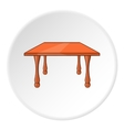 Table icon cartoon style vector image vector image