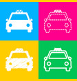 taxi sign four styles of icon on vector image