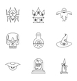 Terrible holiday icons set outline style vector image vector image