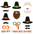 thanksgiving photo booth props pilgrim vector image vector image