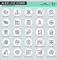 thin line power industry icons set vector image