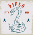 viper snake on grunge background design element vector image vector image