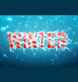 winter blue background with snow in soft focus vector image vector image