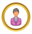 Woman receptionist at hotel icon vector image