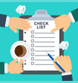 check list concept vector image