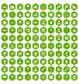 100 child center icons hexagon green vector image vector image