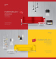 2 banner furniture sale design template vector image vector image