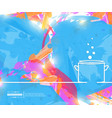 abstract creative concept line draw vector image vector image