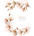 abstract spring background with white magnolia vector image vector image