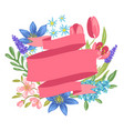banner with spring flowers vector image vector image