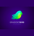 bird logo template in modern gradient style vector image vector image